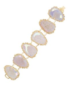 Stone Nest Link Bracelet in Iridescent Drusy