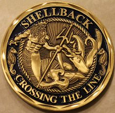 Shellback Navy Marine Corps Challenge Coin in Collectibles, Militaria, Current Militaria Navy Marine, Navy Military, Us Navy, Military Humor, Military Quotes, Royal Navy, Marine Corps Quotes, Us Marine Corps, Navy Tattoos