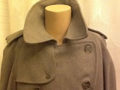 BURBERRY MENS Vintage Trench Coat Mac Spy Coat Size 48 with 100 ...