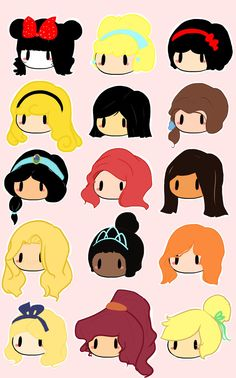 The Girls of Disney by ~Luddie on deviantART Cute Disney, Disney Girls, Disney Art, Disney Ideas, Disney Stuff, Chibi Disney, Disney And Dreamworks, Disney Pixar, Cinderella 3