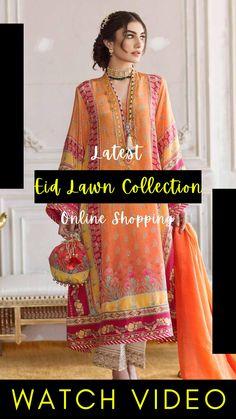 Pakistani Lawn Suits, Pakistani Designer Suits, Pakistani Dress Design, Pakistani Dresses, Eid Dresses For Girl, Stylish Dresses For Girls, Latest Pakistani Fashion, Pakistani Fashion Party Wear, Eid Outfits
