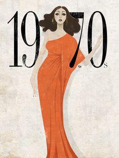 """1970s by Eko Bintang, La Boheme"""", Halston, ELLE Indonesia."""