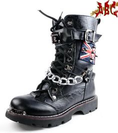 These boots look so cool! I don't really care for the big chain in the front but the flag on the side is so awesome!