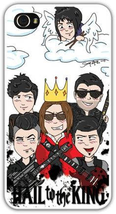 Avenged Sevenfold Hail to the King Cartoon by AndVengeanceForAll, $32.00