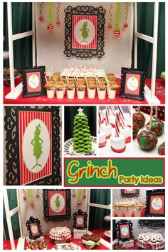 grinch party ideas first birthday hot cocoa bar cake pops treat stations