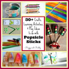 Learning, Playing & Crafts for Kids Using Popsicle Sticks - Buggy and Buddy