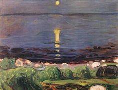 Edward Munch, Sommernacht am Strand