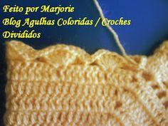 Agulhas Coloridas Croche e Trico: PAP Casaquinho de Croche de BEBE - Feito por Lindinha Knitted Hats, Crochet Hats, Crochet Bebe, Crochet Projects, Crochet Patterns, Blog, Knitting, Fashion, Crochet Baby Boots