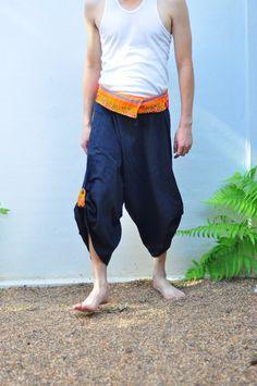 FedEx to USA Mens Thai pants Thai fishermen pant by SiamTrendy, $35.00
