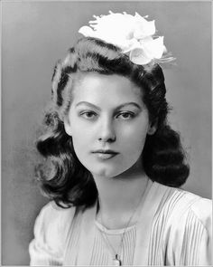 Pre-movie star Ava Gardner (1922-1990) as a teenager in North Carolina (probably ca 1938-39). She is said to have had such a strong Southern drawl when she got her first MGM contract that the MGM people could barely understand her.