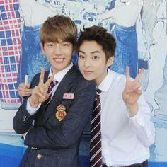 Xiumin and Baek