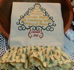 Wonderful Counsellor Ruffled Christmas Dish Towel Kitchen Towel Tea Towel