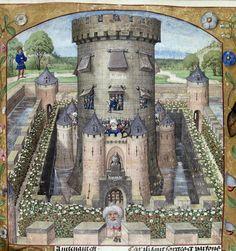Guillaume de Lorris and Jean de Meun, Roman de la Rose, c. 1490 - c. 1500, Harley 4425, f. 39, Castle of Jalousie