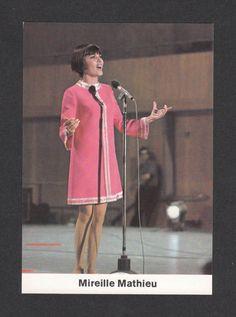 Mireille Mathieu 1969 RARE Pop Rock Card from Germany | eBay