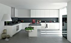 Choosing kitchen themes you love will enhance your love for cooking. Here are some ideas of kitchen themes for your house. Grey Kitchen Designs, Kitchen Room Design, Kitchen Themes, Modern Kitchen Design, Interior Design Kitchen, Kitchen Decor, Kitchen Ideas, Smart Kitchen, New Kitchen