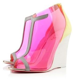 Christian Louboutin ~ Scuba Wedges         From nickyrose24.wordpress.com   via Cynthia Wilson