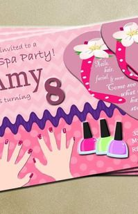 spa party ideas for girls birthday | images of spa party birthday hot pink invitation girls wallpaper