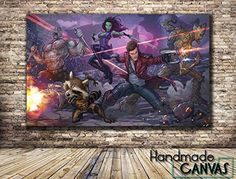 Guardians Of The Galaxy Marvel Comic Book Box Framed Canvas Art Print ** Continue to the product at the image link.Note:It is affiliate link to Amazon.