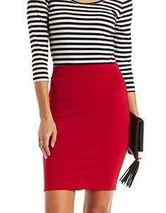 Bodycon High-Waisted Pencil Skirt: Charlotte Russe