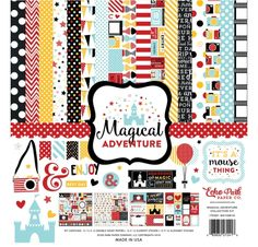 Assortiment 30x30 'Echo Park Paper - Magical Adventure'