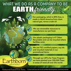 Earthborn is Earth-friendly.  5 ways Earthborn Holistic® gives back to the environment. #EarthDay #EarthWeek