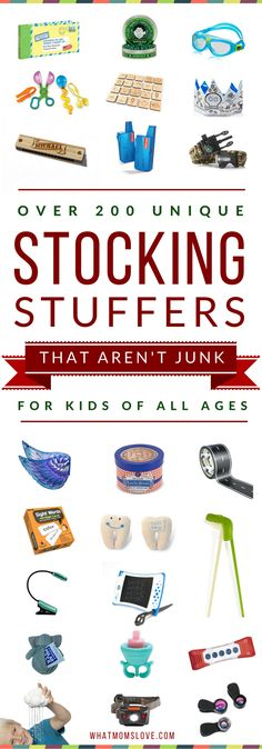 Best Stocking Stuffers For Kids | Unique Stocking Stuffer Gifts For Babies, Toddlers, Tweens and Teens | Great Small, Cheap Gift Ideas
