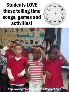 Telling Time Printable Games, Activities and Songs for First, Second and Third Grade - Visit this blog for tons of teaching ideas! My students especially love the telling time arcade game!