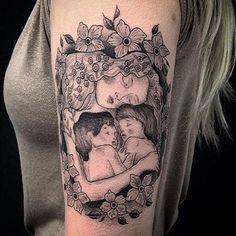 "80 Likes, 3 Comments - Evil From the Needle (@eftn) on Instagram: ""Gustav Klimt's mother and child by @annabel_luyken #gustavklimt #ladiestattooartist #motherandchild…"""