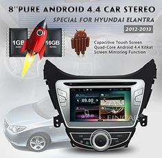 8 inch Android 4.4 car dvd player gps navigation special for Hyundai Elantra 2012-2013 HD capacitive multi touch screen DVD/VCD bluetooth am/fm radio