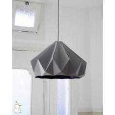 Suspension Origami Chestnut Grise - Studio Snowpuppe - Suspensions design pour chambre d'enfant - Les Enfants du Design +-90