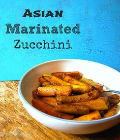 Asian Marinated Zucchini - The TipToe Fairy