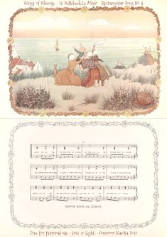"I have utilized the beautiful 1912 art of Dutch artist Henriette Willebeek Le Mair's ""Little Songs of Long Ago"" to create these rectangular songs: Print out your favorites, score …"