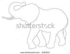 elephant line drawing - project idea