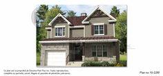 Plan de maison à étages (cottage) de stylecraftsman.Cette résidence offre:☆3 chambres à coucher à l'étage;☆un garagesimple;☆une salle de bain complè...