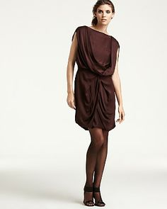 Found this Ports 1961 Cascade Draped Silk Dress PRICE: $595.00 for $18.00 at a resale store!!!!!!!!