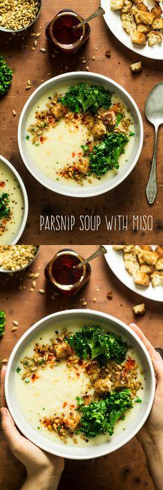 #soup #parsnip #miso #lunch #healthy #vegan #glutenfree #dairyfree