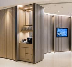 Aedas Interiors creates a minimal aesthetic with sculptural forms for Novotel Century Hong Kong's high traffic lobby Leading hospitality design. Small Space Design, Small Spaces, Apartment Therapy, Diwali, Hygge, Bungalow, Greige, Small Space Bathroom, Hotel Room Design