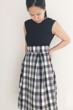 79abac101f3 Mia Clasic Fit   Flare Nursing Dress (Black   Checks)