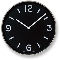 Mono Wall Clock in Black design by Lemnos ($150) ❤ liked on Polyvore featuring home, home decor, clocks, decor, filler, black home decor, wooden clock, wooden home decor, wood wall clock and wood home decor