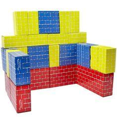 Cardboard building bricks.