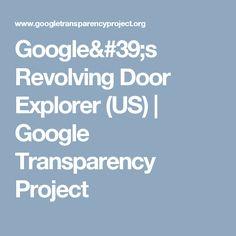 Google's Revolving Door Explorer (US) | Google Transparency Project