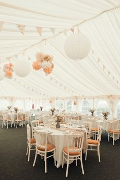 Outdoorsy Rustic Farm Wedding Blush Marquee Peach http://www.photoinspiration.co.uk/
