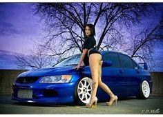 Mitsubishi Lancer Evolution 9 Trucks And Girls, Car Girls, Car Poses, Pin Up, Volvo Amazon, Top Luxury Cars, Lux Cars, Mitsubishi Lancer Evolution, Tuner Cars