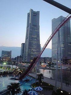 #Vanish_Roller_Coaster at #Cosmo_World #Yokohoma http://directrooms.com/japan/hotels/yokohama-hotels/price1.htm