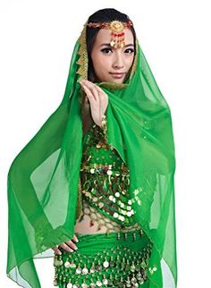Wow I really love this Dreamspell Hot Sexy Dark Green Indian Style Dancer Belly Dancer Womens Egyptian Halloween Costumes.