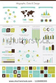 Retro Infographics Set. World Map And Information Graphics Stock Vector 110688095 : Shutterstock
