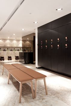 The Yoga Center, Locker Area | Kuwait City | Interior Design 2013