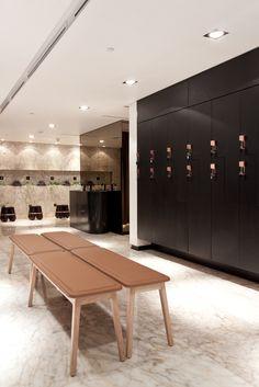 The Yoga Center, Locker Area | Kuwait City | Interior Design 2013
