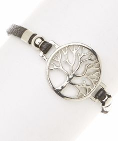 Love this Silver Tree Pendant Bracelet by I Love Accessories on #zulily! #zulilyfinds
