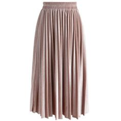 Chicwish Inviting Sheen Velvet Pleated Skirt in Pink (2.615 RUB) ❤ liked on Polyvore featuring skirts, pink, pleated skirt, a line skirt, velvet pleated skirt, pink pleated skirt and pink midi skirt